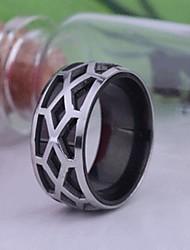 anneau en acier inoxydable gravé bijoux pour hommes de cadeaux personnalisés