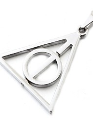 cheap -Triangle Circle Holy Silver Zinc Shining Harry Pendant Only (1 Piece)