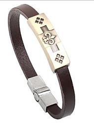 economico -stile punk braccialetto di cuoio della lega Crowe (1 pz)