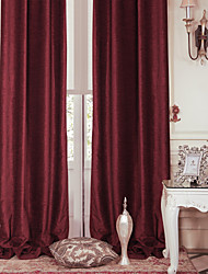 cheap -TWOPAGES® Two Panels  Modern Red Solid Energy Saving Curtain Drape