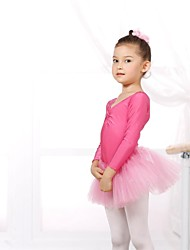 cheap -Ballet Leotards Women's Children's Spandex Tulle Long Sleeve