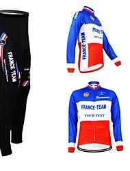 economico -Kooplus Giacca con pantaloni da ciclismo Per uomo Per donna Unisex Manica lunga Bicicletta Maglietta/Maglia Set di vestiti Inverno Vello