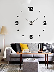 cheap -Designed in China / Modern / Contemporary Metal Shell Round Indoor,1 × AA Battery / AA Wall Clock