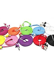 2m Noodle Appearance Design Micro USB Cable for Samsung Galaxy Note 4/S4/S3/S2 and LG/HTC/Sony
