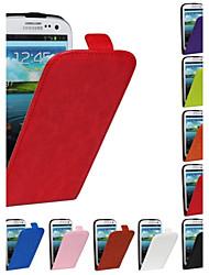 abordables -Coque Pour Samsung Galaxy Samsung Galaxy Coque Clapet Coque Intégrale Couleur Pleine faux cuir pour S3