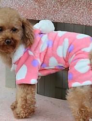 billige -Hund Frakker Hættetrøjer Pyjamas Hundetøj Hjerte Polarfleece Bomuld Kostume For kæledyr
