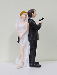 cheap -Cake Topper Classic Theme Classic Couple Funny & Reluctant Resin Wedding Bridal Shower With Gift Box