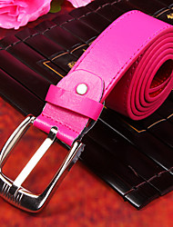 cheap -Men's Party/Evening Causal Fashion Groom/Groomsman Fuchsia PU Belt