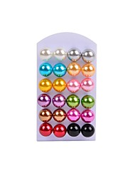 cheap -Women's Pearl Imitation Pearl Black Pearl Jewelry Set Stud Earrings - Colorful Earrings For Wedding Party Daily