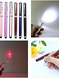 LT-4-In -1 Function  Ballpen Capacitive Touch Red Laser Pointer(2MW.650nm.3 X button cell.Multicolor)