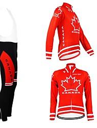 baratos -Kooplus Camisa com Calça Bretelle Mulheres Homens Unisexo Manga Comprida Moto Camisa/Roupas Para Esporte Tights Bib Conjuntos de Roupas