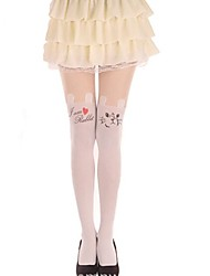 Socks/Stockings Sweet Lolita Lolita Princess Lolita Accessories Stockings Animal Print For Velvet