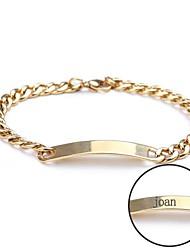 Недорогие -персональный подарок браслет выгравированы ювелирные изделия из нержавеющей стали