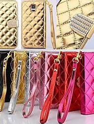 billige -Etui Til Samsung Galaxy Samsung Galaxy Note Lommebok / Kortholder / Rhinstein Heldekkende etui Geometrisk mønster PU Leather til Note 4
