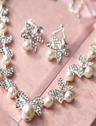 economico -Gioielli Set Per donna Matrimonio Parure di gioielli Perle false / Lega Strass Collane / Orecchini Avorio