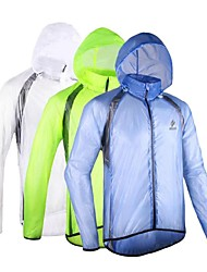 cheap -Arsuxeo Men's Cycling Jacket Bike Raincoat Waterproof, Windproof, Anatomic Design Polyester, Spandex, Fleece White / Blue / Light Green