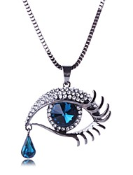 Women's Fashion Rhinestone Eye Necklace(More Colors)