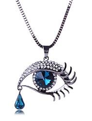moda colar de strass olho das mulheres (mais cores)