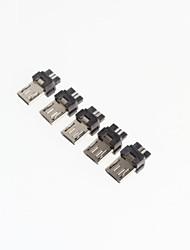 baratos -micro 5p mini-usb masculino (5pcs)