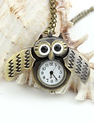 Personalized Owl Pocket Watch  Enamel Metal Lanyards