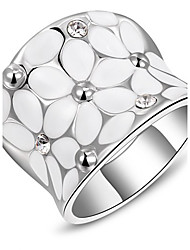 cheap -Roxi® Silver White Flower Ring