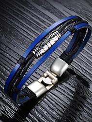 Недорогие -Браслеты Кожаные браслеты Кожа Others Уникальный дизайн Мода Свадьба Для вечеринок Повседневные Спорт Новогодние подарки Бижутерия Подарок