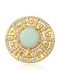 Feminino Anéis de Casal Anéis Grossos Diamante sintético Strass Chapeado Dourado Opala Jóias Para Casamento Festa Diário Casual Esportes