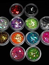 Недорогие -Блестки для украшения акриловых ногтей, 3 мм, 12 цветов