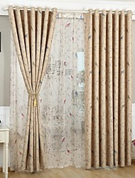 Rod Pocket Grommet Top Tab Top Double Pleated Pencil Pleated Two Panels Curtain Neoclassical European Modern Mediterranean Country Living