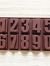 preiswerte -Zahlen Form Kuchenform Eis Gelee Schokoladenform, Silikon 22 x 11,2 x 2 cm (8,7 × 4,4 × 0,8 Zoll)