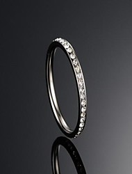 cheap -Women's Band Rings Fashion Rhinestone Titanium Steel Jewelry Daily Casual