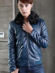 Недорогие -мужская корейская мода PU кожаная куртка