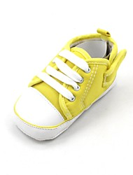 Boys' Girls' Baby First Walkers Fabric Spring Fall Casual Outdoor First Walkers Lace-up Flat Heel White Red Pink Yellow Light GreenUnder