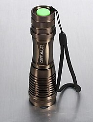 LS021 LED Flashlights/Torch Handheld Flashlights/Torch LED 1800 Lumens 5 Mode Cree XM-L T6 Batteries not included Adjustable Focus Impact