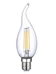 povoljno -E14 LED filament žarulje CA35 4 LED diode COB Ukrasno Toplo bijelo 400lm 2800-3200K AC 220-240 AC 110-130V