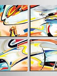 E-Home® Leinwand Kunst abstrakte Dekoration Malerei Set von 4