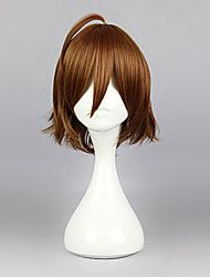 cheap -Cosplay Wigs Akame Ga Kill! Cosplay Brown Short Anime Cosplay Wigs 35 CM Heat Resistant Fiber Male
