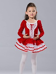 cheap -Kids' Dancewear Tops Dresses&Skirts Tutus Children's Chiffon Spandex Tulle Velvet Long Sleeve