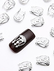 Недорогие -50шт серебро Nail Art сплава ломтик ювелирные изделия металлический гвоздь ювелирные шпильки для простого дизайна ногтей