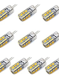 cheap -1.5W G4 LED Corn Lights T 24 leds SMD 2835 130-150lm Warm White White Decorative DC 12