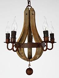 abordables -5-luz Estilo de vela Lámparas Araña Lámpara Torchiere de Pie - Mini Estilo, 110-120V / 220-240V Bombilla no incluida / 20-30㎡ / E12 / E14