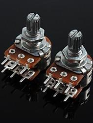 wh148 doppio potenziometro unione 6 pin manico lungo 15 millimetri - 20k (2 pezzi)