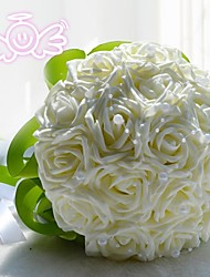 """cheap -Wedding Flowers Bouquets Wedding Lace Polyester 11.02""""(Approx.28cm)"""