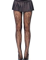Moda nova feminina calça fina transparente, nylon / spandex