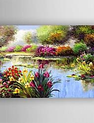 Pintada a mano Abstracto Un Panel Lienzos Pintura al óleo pintada a colgar For Decoración hogareña