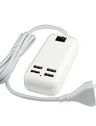 cheap -4 USB Port Desktop Wall Charger Power Adapter for iPad / iPhone and Others(15W,DC5V 3A,100~240V, EU Plug,1.5m)