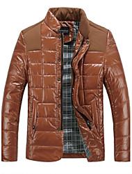 mænds pleuche afslappet langærmet lynlås frakke