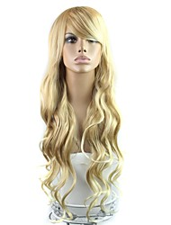 cheap -28 Inch Long High Temperature Fiber Wave Female Elegant Fashion Synthetic Celebrity Wig