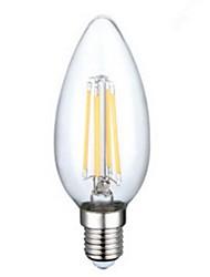 e14 3,5 watt 4xcob 400lm 2800-3200 karat warmweiß kerzenlampen led filament licht (ac 230 v)