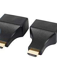 cheap -HDMI to RJ45 CAT-5e / 6 HD 3D Signal Extension Adapters - Black (2 PCS)